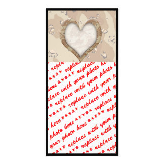 Camouflage Heart - Desert Personalized Photo Card