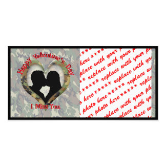 Camouflage Heart - Missing You on Valentine s Day Picture Card