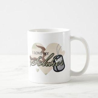 Camouflage Heart Basic White Mug