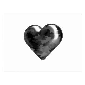 Camouflage heart postcard