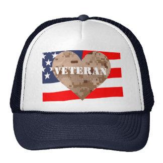 Camouflage Heart Veterans Hat