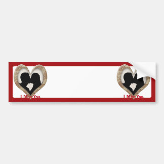 Camouflage Heart with Kissing Couple Car Bumper Sticker