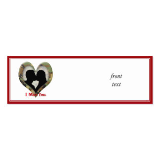 Camouflage Heart with Kissing Couple Business Card Template