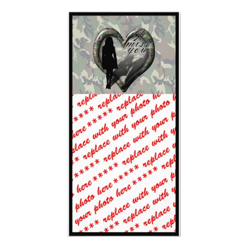 Camouflage Heart - Woman Missing Man Picture Card