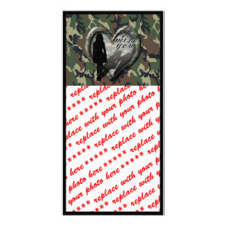 Camouflage Heart - Woman Missing Woman (w/Text) Photo Cards