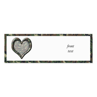 Camouflage Heart - Woodland Business Card