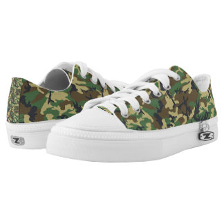 Camouflage Low Top Sneakers for Women