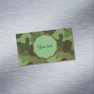 Camouflage Magnetic Business Card