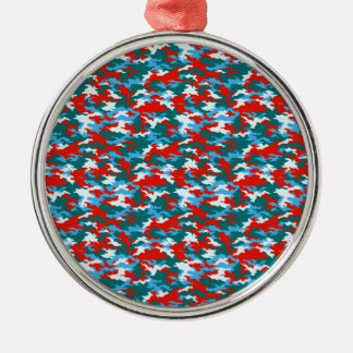 Camouflage Metal Ornament