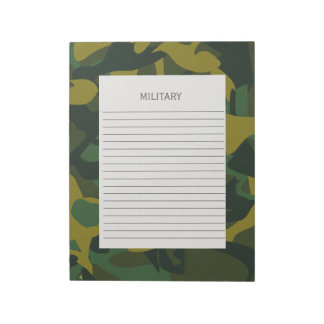 Camouflage Military Army Notepad