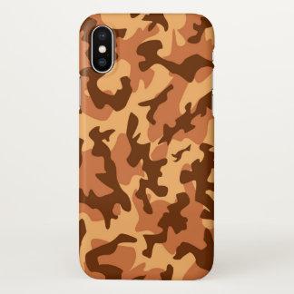 Camouflage military como print army orange iPhone x case