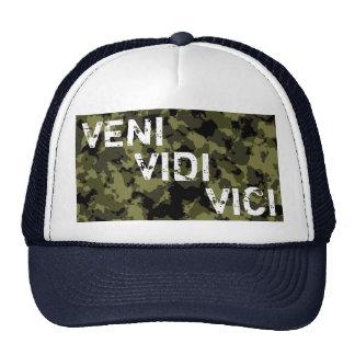 Camouflage military message Veni Vidi Vici Cap