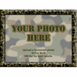 Camouflage Military Photo Frame Photo Sculpture Magnet
