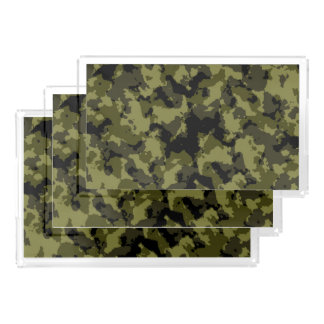 Camouflage military style acrylic tray