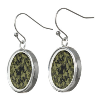 Camouflage military style earrings