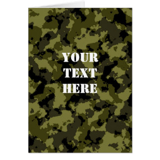 Camouflage military style pattern card