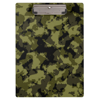 Camouflage military style pattern clipboards