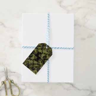 Camouflage military style pattern gift tags