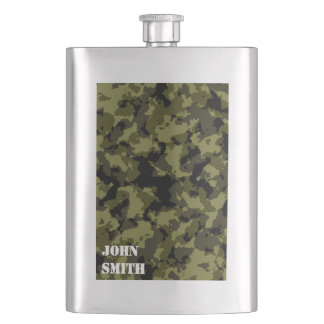 Camouflage military style pattern hip flask