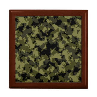 Camouflage military style pattern large square gift box