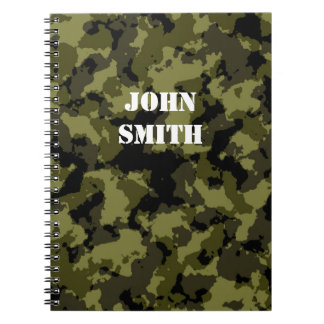 Camouflage military style pattern notebook