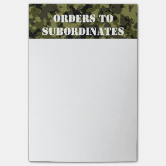 Camouflage military style pattern post-it notes