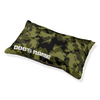 Camouflage military style pet bed