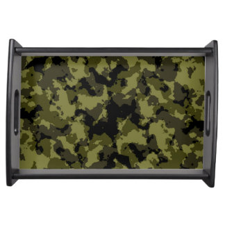 Camouflage military style serving tray