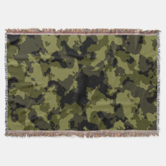 Camouflage military style throw blanket