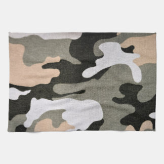 Camouflage, military tea towel