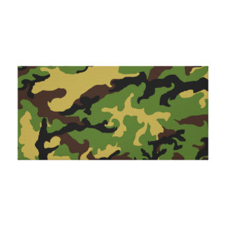 'Camouflage Military Tribute' Canvas Print