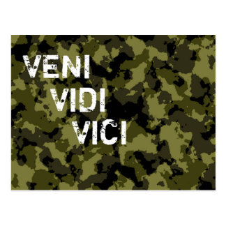 Camouflage military victory Veni Vidi Vici Postcard
