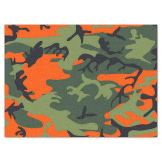Camouflage Orange Hunter Tissue Paper