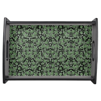Camouflage Ornate Pattern Serving Tray