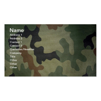 Camouflage Pack Of Standard Business Cards
