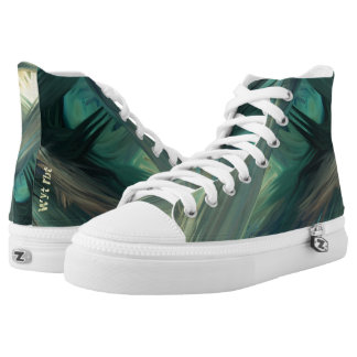 Camouflage painted seascape Urban Hype High Tops