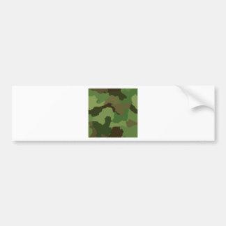 Camouflage Pattern Bumper Sticker