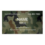 Camouflage Pattern Business Card