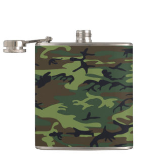 Camouflage Pattern Hip Flask
