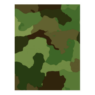 Camouflage Pattern Postcard