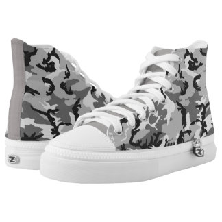 Camouflage Pattern Printed Shoes