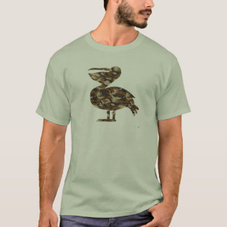 Camouflage Pelican Silhouette T-Shirt