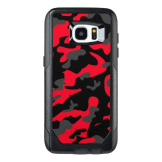 Camouflage Red Black Como Army Military Print OtterBox Samsung Galaxy S7 Edge Case