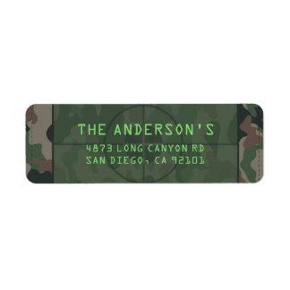 Camouflage Return Address Label