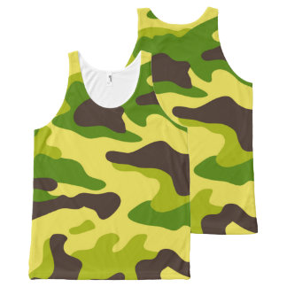 Camouflage seamless color pattern All-Over print singlet