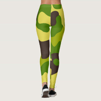 Camouflage seamless color pattern. leggings