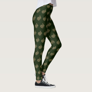Camouflage Silhouette Bunny Rabbit Leggings