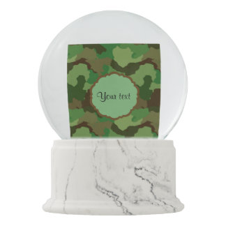 Camouflage Snow Globe