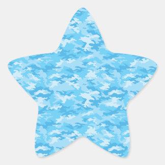 Camouflage Star Sticker
