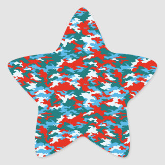 Camouflage Star Sticker